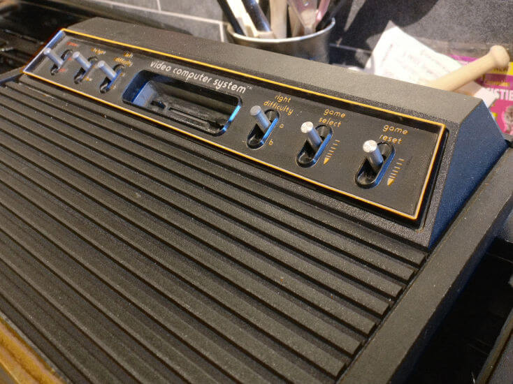 Finished Atari 2600 Bezel Restoration Close-Up