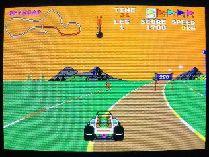 Screenshot Of Buggy Boy On The Atari ST