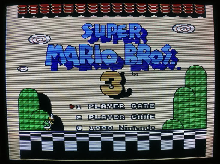 Example of Super Mario Bros. 3 Output Over Composite On CRT Monitor