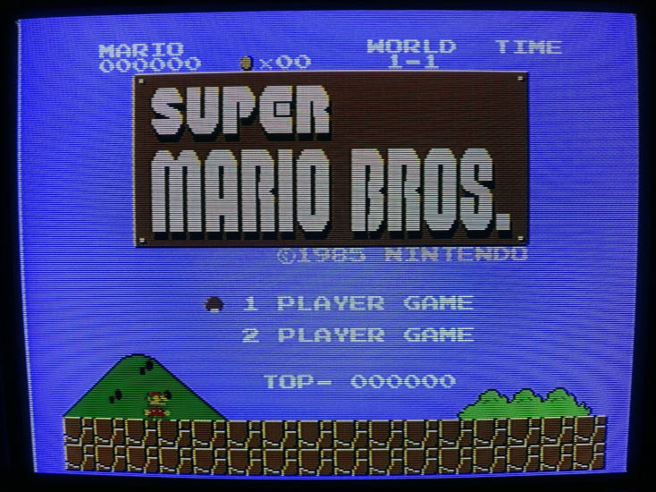 Example of Super Mario Bros. Output Over Composite On CRT Monitor
