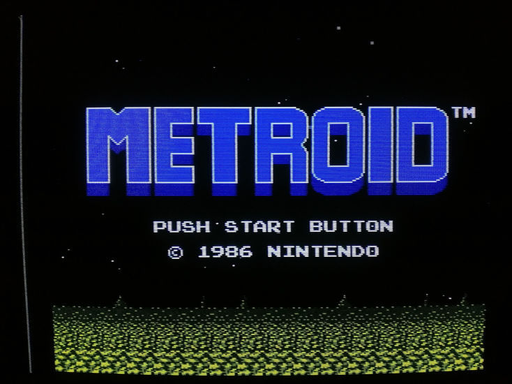 Example of Metroid Output Over Composite On CRT Monitor